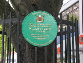 WilliamCareyPlaque